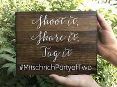 Shoot it - Share it - Tag it - Wedding Hashtag Sign - Wedding Instagram sign -Instagram wedding sign - Sophia collection by OAKYdesigns on Etsy https://www.etsy.com/listing/555172373/shoot-it-share-it-tag-it-wedding-hashtag