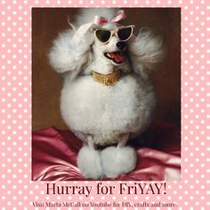 Hurray for FriYAY!!  :) Word 3, Poodles, Haha, Cute Animals, Christmas, Pink, Crafts, Animaux, Pretty Animals