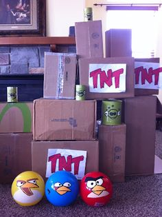 Life size angry birds game