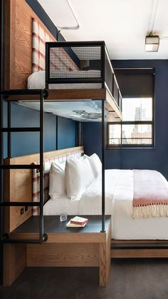 Double Eagle Project Bunk Room + Bath Reveal – Home Design and Fashion Site Home Room Design, House Design, Beds For Small Rooms, Home, Cozy House, Bedroom Interior, House Interior, Minimalist Home, Bunk Room