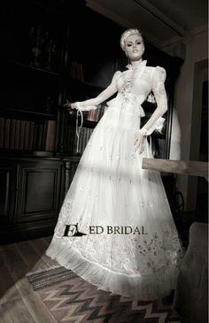 New Fashion Style Ball Gown Long Sleeve Lace Appliqued Beaded Apliques Para Vestidos De Novia