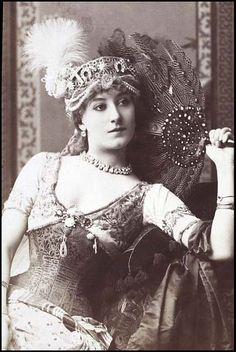 Victorian actress Miss Kate Vaughan c.1880s.