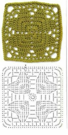 Transcendent Crochet a Solid Granny Square Ideas. Inconceivable Crochet a Solid Granny Square Ideas. Motifs Granny Square, Crochet Motifs, Granny Square Crochet Pattern, Crochet Blocks, Crochet Diagram, Crochet Chart, Crochet Squares, Crochet Granny, Diy Crochet