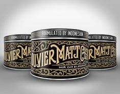 """Check out new work on my @Behance portfolio: """"Bouvier Matt Clay Pomade label"""" http://be.net/gallery/45981177/Bouvier-Matt-Clay-Pomade-label"""