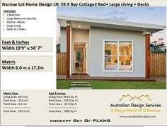 affordable Granny pods Bay Cottage 645 sq feet or 2 Bedroom 2 bed image 1 2 Bedroom House Plans, Cottage House Plans, Cottage Homes, Backyard Cottage, House Plans For Sale, Small House Floor Plans, Flat House Design, Tiny House Furniture, Granny Flat