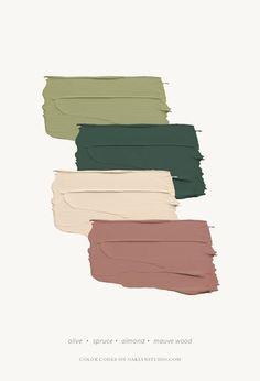 August Farbschema - Klicken Sie hier f r Farbcodes Oaklyn Studio paintcolorschemes Paint Color Schemes, Colour Pallette, Color Combos, Earthy Color Palette, Green Color Schemes, House Color Schemes Interior, Taupe Color Palettes, Vintage Color Schemes, Apartment Color Schemes