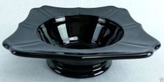 "Vintage Black amethyst glass ashtray bowl square shaped 1 5/8"" tall 5"" square Black Amethyst, Antique Glassware, Black Glass, Vintage Black, Vintage Antiques, Monochrome, Depression, Pottery, Shapes"