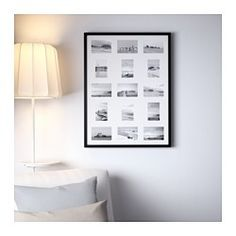 IKEA - RIBBA, Frame for 15 pictures, , Can be hung horizontally or vertically to fit in the space available.Can also be used without the mat for a larger picture.The mat is acid-free and will not discolor the picture.Front protection in durable plastic makes big frames lighter and safer to use.