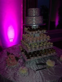 Cupcake Wedding Cake Combination