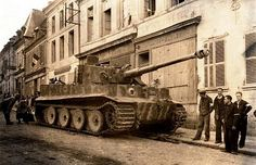 Tiger I. abandoned in a French town after the invasion in … | Flickr