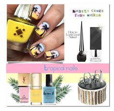 """""""Tropical nails"""" by curlysuebabydoll ❤ liked on Polyvore featuring beauty, Burberry, Cedes, Nika, Dolce&Gabbana, Yves Saint Laurent, Industrie, Christian Louboutin, Lauren B. Beauty and nails"""