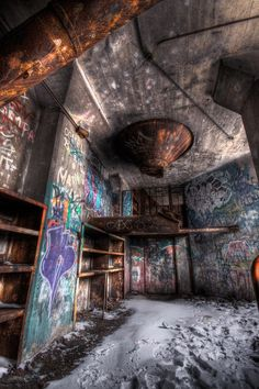 graffiti is often the only hope for beauty in these abandoned places...