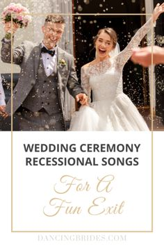 Upbeat Recessional Songs For A Fun Wedding Ceremony Exit — Dancing Brides Prelude Wedding Songs, Wedding Recessional Songs, Unique Wedding Songs, Wedding Song Playlist, Wedding Ideas To Make, Wedding First Dance, Wedding Exits, Funny Wedding Photos, Amigurumi