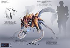 This is the latest redesign for my capstone project, this one is the Salticere. Salticere are an extremely intelligent & curious species they are very technically minded and are able to m...