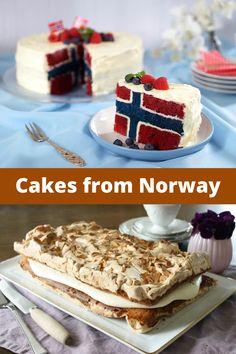 Norwegian Cuisine, Norwegian Food, Baking Recipes, Snack Recipes, Dessert Recipes, Norwegian Cake Recipe, Swedish Recipes, Norwegian Recipes, Norway Food