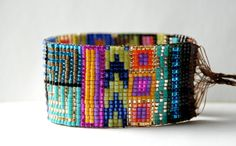 Hand Woven Beaded Friendship Bracelet by PeanutAndPoe on Etsy