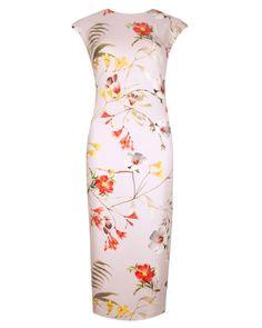 Botanical bloom print dress - Pale Pink | Dresses | Ted Baker