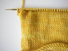 Stocking stitch curls up unless you add an edge - on the LoveKnitting blog