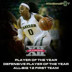 Congratulations to Big 12 Player of the Year Odyssey Sims! That makes 4 straight B12 POY awards for the #Baylor Lady Bears. #SicEm
