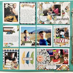 Pocket page spread from creative team member Brenda Smith using the Hello Fall collection