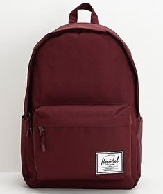 Get colorful and functional style with the Herschel Supply Co. A deep plum colorway provides striking style points, while the large logo patch on the front pocket offers a splash of classic branding as well. Finished with two la Herschel Backpack, Backpack Bags, Fashion Backpack, Messenger Bags, Duffle Bags, Cute Backpacks For Highschool, Back To School Backpacks, Herschel Supply Co, Cute School Bags