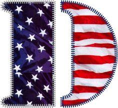 Patriotic Letter D