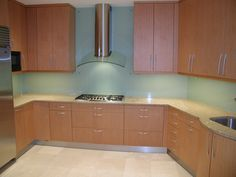 Kitchen Glass Backsplash Pictures the big trend in backsplash material is glass -- love the color