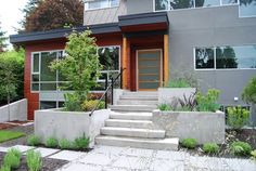 Modern Exterior Photos Front Porch Design, Pictures, Remodel, Decor and Ideas - page 2