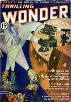 """Thrilling Wonder Stories featuring """"Hollywood on the Moon"""" by Henry Kuttner."""