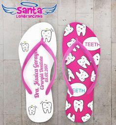 Chinelo Formatura Odontologia Personalizado COD 3206
