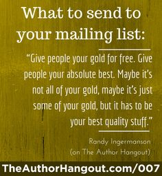 Confused about what to send to your mailing list subscribers? This should clear it right up! Get other tips on this episode of The Author Hangout!