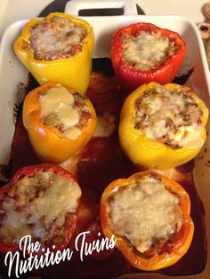 Cheesy Stuffed Peppers   27 Things That Real Healthy People Actually Eat For Lunch