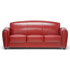 Red Leather Sofa now featured on Fab.