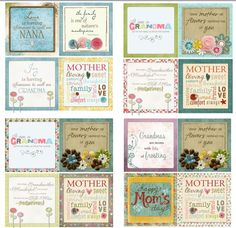 Oh my!!! Have y'all seen this template? It's 4, 12x12 pages with 4, 6x6 squares on each page. All Mother's Day related! You can cut these out, adhere onto a 6x6 tile and WHALA...you have an adorable & inexpensive Mother's Day gift! It's Template ID: 85330 by Michelle Bell