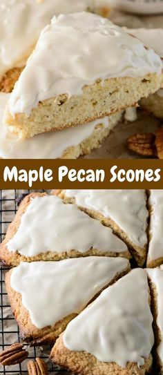 Whether you decide to serve these Glazed Maple Pecan Scones for breakfast or a mid-afternoon snack, they are sure to impress everyone! Brunch Recipes, Breakfast Recipes, Dessert Recipes, Brunch Foods, Breakfast Dishes, Scones, Chefs, Maple Pecan, Maple Glaze