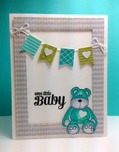 Cute and Cuddly: Clearly Besotted, banner punch, by beesmom - Cards and Paper Crafts at Splitcoaststampers