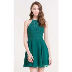 Alyce 3714 Homecoming Dress Mini Halter Sleeveless ($148) ❤ liked on Polyvore featuring dresses, formal dresses, sea green, lace homecoming dresses, lace cocktail dresses, blue lace cocktail dress and short lace cocktail dress