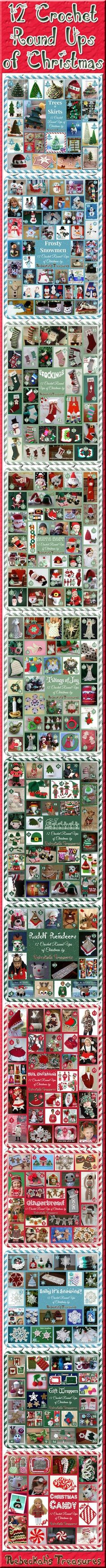 12 Crochet Round Ups of Christmas by Rebeckah's Treasures (@beckastreasures) / Featuring 300+ christmas themed patterns from 50+ fabulous designers!