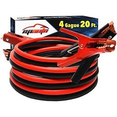 EPAuto 4 Gauge x 20 Ft Heavy Duty Booster Jumper Cables with Travel Bag and Safety Gloves 4 AWG x 20 Feet ** Continue to the product at the image link. (This is an affiliate link) Safety Gloves, Thing 1, Kit Cars, Car Cleaning, Car Accessories, Gauges, Travel Bag, Vehicles, Jumper