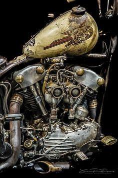 Moteurs Harley Davidson, Harley Davidson Engines, Harley Davidson Pictures, Harley Davidson Knucklehead, Harley Bobber, Classic Harley Davidson, Chopper Motorcycle, Harley Bikes, Bobber Chopper