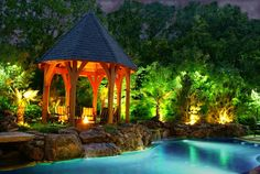 pool landscape lighting