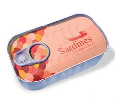 cutie sardines packaging. who doesn't like sardines will love this packaging and maybe try to eat this sardines