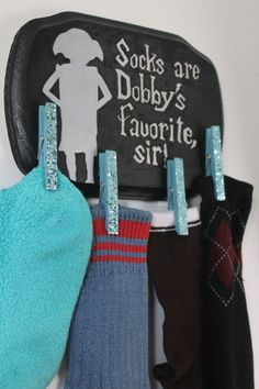 Dobby Lost Sock Sign for Laundry Room by justinachristine on Etsy, $14.00