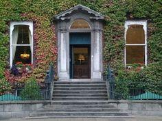 Vine covered house on St Stephen's Green in Dublin.