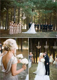 I love this look.. and these dresses. I think they're so fun! @weddingchicks