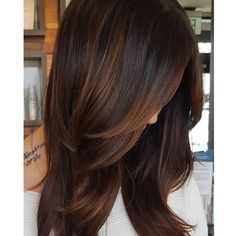 Trendy Hair Color Highlights : Are you looking for hair color dark hairdos See our collection full of hai Cabello Color Chocolate, Chocolate Hair Colour, Chocolate Auburn Hair, Dark Chocolate Brown Hair, Red Chocolate, Chestnut Hair, Dark Hair With Highlights, Brown Hair With Lowlights, Brown Blonde