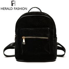 Herald Fashion Women Velvet Backpacks
