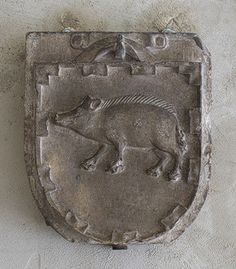 Arms of the Porcelet Family   late 13th-early 14th c.  French, Saint-Guilhem-le Dessert near Montpellier  Limestone 14 3/16 x 12 3/4in.  Heilbrunn Timeline of Art History   The Metropolitan Museum of Art