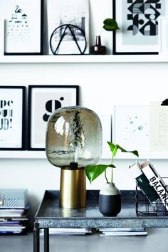 Tafellamp Note - Brons/Grijs - Aluminium - House Doctor