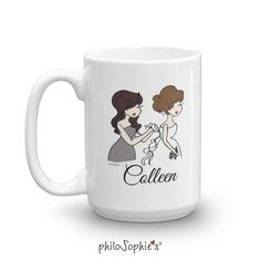Personalized Bridal Party Ceramic Mug - 11 Coffee Tumblers